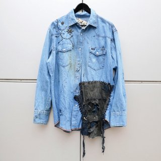 <img class='new_mark_img1' src='//img.shop-pro.jp/img/new/icons20.gif' style='border:none;display:inline;margin:0px;padding:0px;width:auto;' />£iNK Studs Custom Denim Shirt