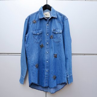 £iNK Studs Custom Denim Shirt