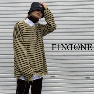 【1/23 22:00〜販売開始】F1ND ONE  Border Clean Knit