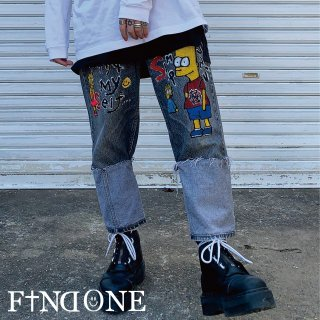 【2/13 22:00〜販売開始】 F1ND ONE Reverse ART Denim