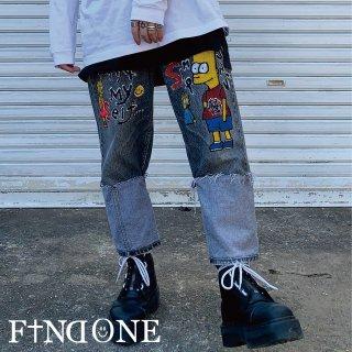 【2/13 22:00〜販売開始】 F1ND ONE Reverse ART Denim