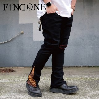 【数量限定 2/17 22:00〜販売開始】F1ND ONE Leopard Remake Pants