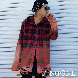 【2/20 22:00〜販売開始】F1ND ONE Remake Check Hoodie