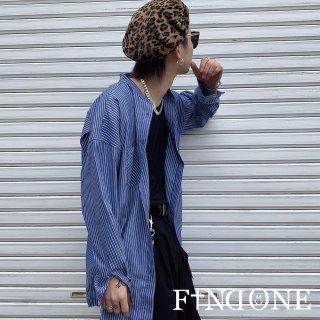 【3/21 22:00〜販売開始】F1ND ONE No Collar Top Stripe shirt