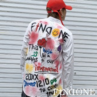 【3/15 22:00〜販売開始】F1ND ONE Remake Paint shirt