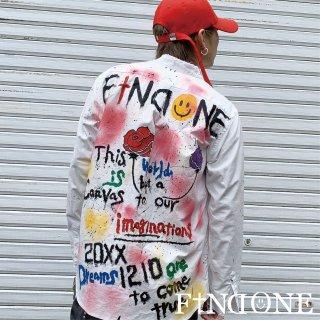 【3/15 22:00〜販売開始】F1ND ONE Remake Paint shirt