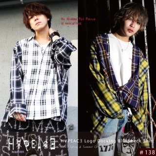 H∀PEAC∃ Logo Docking BIG Check Shirt