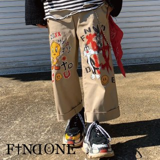 【3/28 22:00〜販売開始】F1ND ONE ART Remake Wide pants
