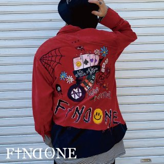 【4/15 22:00〜販売開始】F1ND ONE In the brain shirt RED