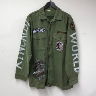 <img class='new_mark_img1' src='//img.shop-pro.jp/img/new/icons13.gif' style='border:none;display:inline;margin:0px;padding:0px;width:auto;' />【USED】KinCrossWorld Remake Military Shirt