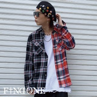 【4/17 22:00〜販売開始】F1ND ONE Docking Check Shirt