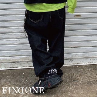 <img class='new_mark_img1' src='https://img.shop-pro.jp/img/new/icons20.gif' style='border:none;display:inline;margin:0px;padding:0px;width:auto;' />F1ND ONE Heel Logo Wide Denim