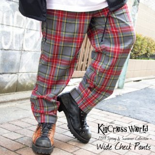 <img class='new_mark_img1' src='https://img.shop-pro.jp/img/new/icons13.gif' style='border:none;display:inline;margin:0px;padding:0px;width:auto;' />【USED】KinCrossWorld Wide Check Pants【グレー×レッド】