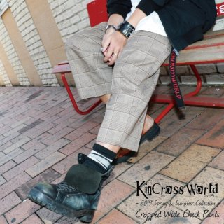 <img class='new_mark_img1' src='https://img.shop-pro.jp/img/new/icons13.gif' style='border:none;display:inline;margin:0px;padding:0px;width:auto;' />【USED】KinCrossWorld Cropped Wide Check Pants【ブラウン】