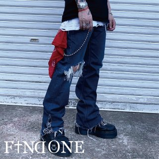 【6/22 22:00〜販売開始】F1ND ONE Paisley Flare Pants