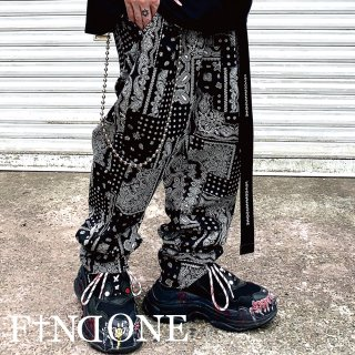 【6/29 22:00〜販売開始】F1ND ONE Paisley Pattern Chef Pants