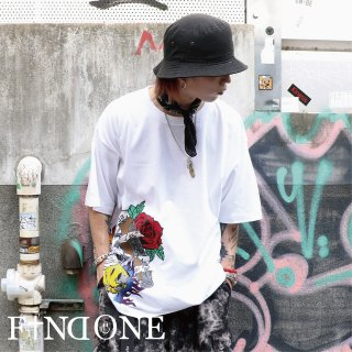 【8/12 22:00〜販売開始】 F1ND ONE ART Paint T-shirt