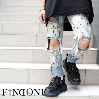 【8/21 22:00〜販売開始】F1ND ONE Paint Crush Pants
