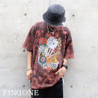 【9/17 22:00〜販売開始】F1ND ONE Original Art Bleach T-Shirt
