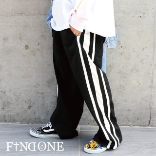 【10/22 22:00〜販売開始】F1ND ONE Stripe Wide Easy Pants
