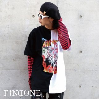 【11/12 22:00〜販売開始】F1ND ONE Skull Band Docking T-shirt
