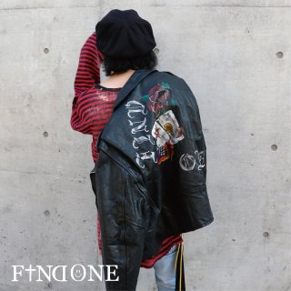 【11/18 22:00〜販売開始】F1ND ONE Droad Paint Leather Jacket