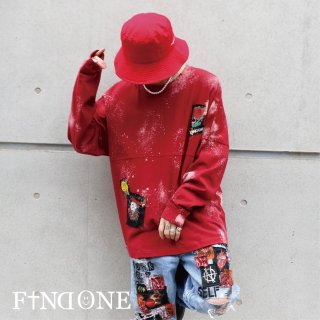 【1/29 22:00〜販売開始】F1ND ONE Remake Grunge long T−shirt