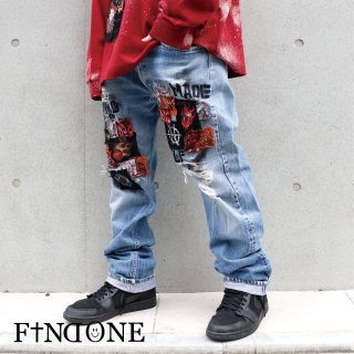 【1/29 22:00〜販売開始】F1ND ONE Remake Grunge Denim