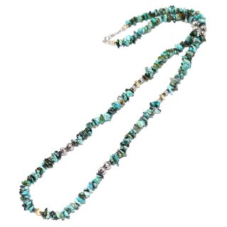 KinCrossWorld Turquoise&Gold Middle Necklace