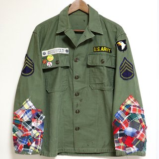 <img class='new_mark_img1' src='//img.shop-pro.jp/img/new/icons1.gif' style='border:none;display:inline;margin:0px;padding:0px;width:auto;' />KinCrossWorld Remake Military Shirt