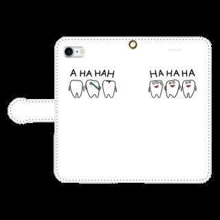 手帳型スマホケース【シンプルなHAHAHA】