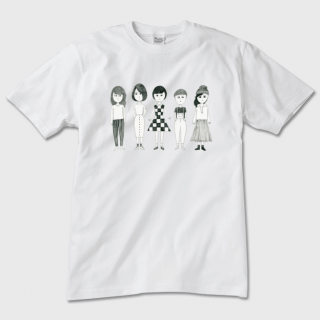 Tシャツ【女子女子(デッサン風)】