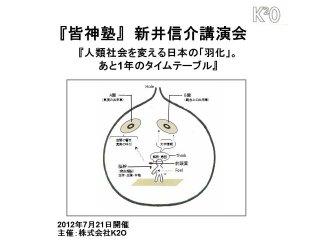 【皆神塾DVD】新井信介講演会DVD(2012年7月21日開催)