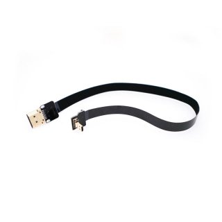 Ultra Thin Micro HDMI to Standard HDMI Flat Ribbon Cable 50cm