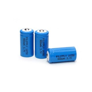 PILOTFLY 18350 3.7V 900mAh Rechargeable Li-ion Battery 3本セット