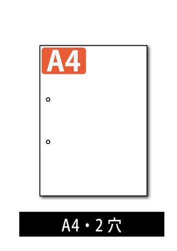 ミシン目入り用紙 : 分割なし 2穴 白紙 【A4サイズ】