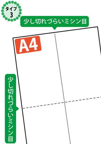 ミシン目入り用紙 : EIAJ標準納品書 タイプ3 白紙 【A4サイズ】