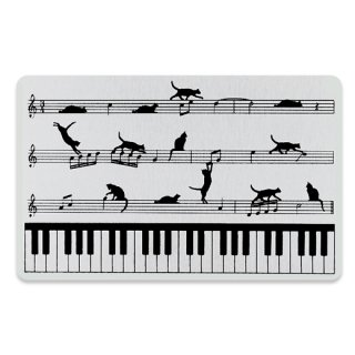 ピアノと猫/黒