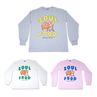 <img class='new_mark_img1' src='https://img.shop-pro.jp/img/new/icons40.gif' style='border:none;display:inline;margin:0px;padding:0px;width:auto;' />【SOUL FOOD】ロングTシャツ