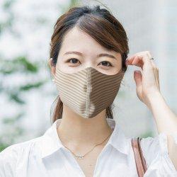 【メール便配送・代引不可・送料無料】皮膚感覚マスク1枚(梱包手数料込)ボーダー柄