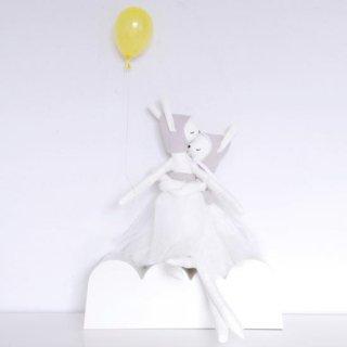 ILKA Bunny clothdoll penelope  Gray