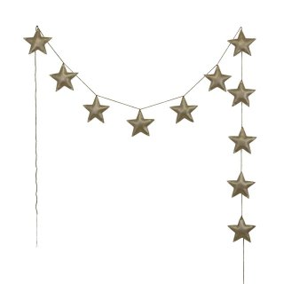 Numero74  mini star garland gold