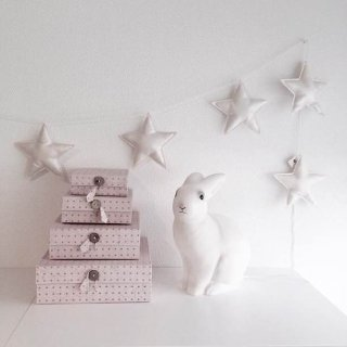 Numero74  mini star garland cream