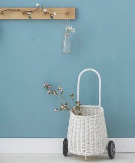 OlliElla Luggy Basket  White