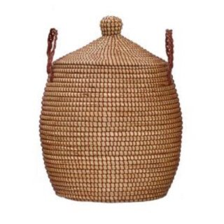 OlliElla  Brown  Lidded Basket (small・Medium・ Large  )