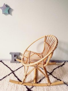 Locking Rotin Chair  From France