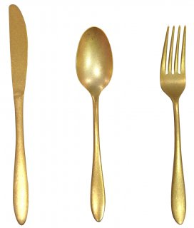 Gold stainless cutlery dessert knife