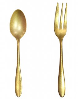 Gold stainless cutlery Cake fork