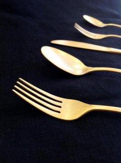 Gold stainless cutlery Desert fork