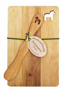 Cutting board & Butter knife set Horse